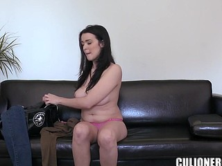Undressed and pretty slut in socks is here to have group sex