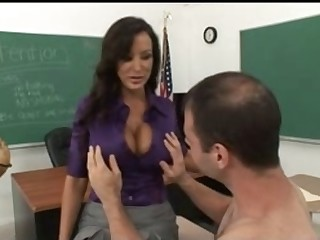Breasty Elderly Teacher Tempt Her Nerd Student
